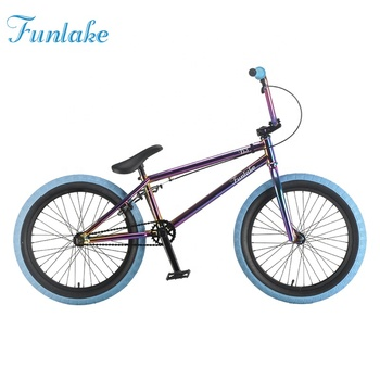 Funlake OEM ODM high quality colourful flatland bmx bicycle 20 inch the mini cheapest halfpipe bmx freestyle bike
