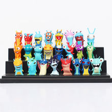 24pcs Slugterra Elemental Slugs Toy Cartoon PVC Action Figure Doll Decoration