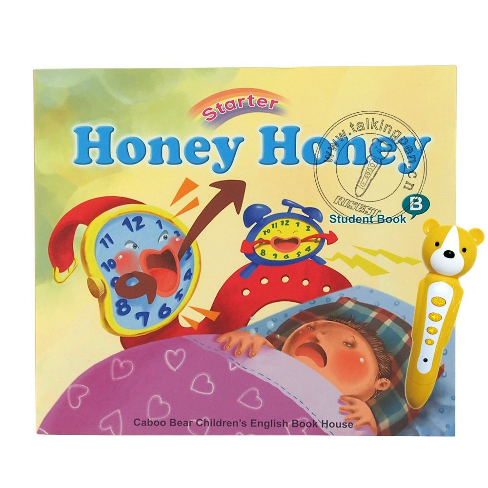 Kindergarten Kids Smart Reading Pen with Native American Pronunciation English Learning Touching Audio Books Honey Honey