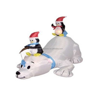 Inflatable Polar Bear with Penguin Christmas products Inflatable Polar Bear with Penguin Christmas products