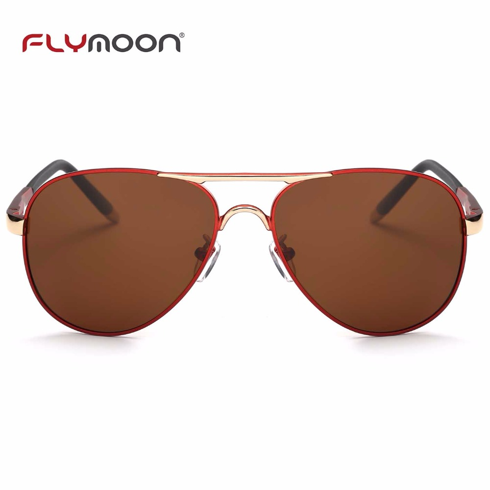 Elegant polarized classic clear eyewear metal safety oversize variety color adult sunglasses
