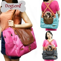 Trade Assurance Functional Fair Trade Canvas Travel Dog and Cat Pet Carrier Tote Hand Bag