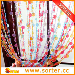 colorful plastic bead chain curtain for room divider and decoration