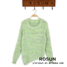 Spring fresh loose candy color mohair ladies pullover sweater