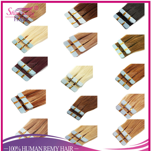Cheap human hair wholesale virgin indian sticker hair extensions, cuticle intact seamless double sided tape in hair extensions