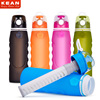 2017 Factory Direct Sale Portable 1 L Collapsible Silicone Filter Water Bottle