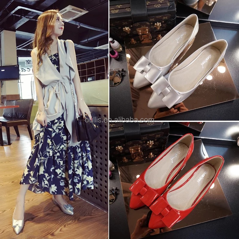 2016 new brand design latest candy color ladies flat shoes CP6905