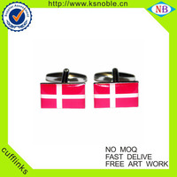 Cheap National flag custom enamel cufflinks with epoxy