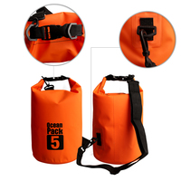 Free shipping 5L 500D Dry Sack Heavy Duty Waterproof Dry Bag for Kayaking Fishing Rafting Swimming Floating