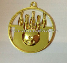 Low price New product 3d bowling medal