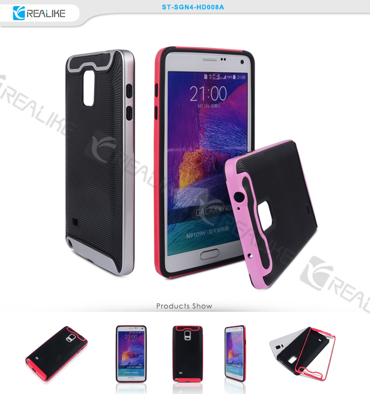Superior phone case shockproof armor soft luxury ultra slim tpu pc hybrid for samsung galaxy note 4