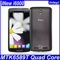 "In Stock iNew I6000 MTK6589T Quad Core 1.5GHz Android 4.2 Smart Phone 1GB/ 2GB RAM 16GB/ 32GB ROM 6.5"" FHD Camera 13.0MP"
