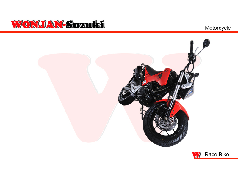 Race Bike (150cc) Wonjan-Suzuki engine, Motorcycle, , Motorbike, Autocycle,Gas or Diesel Motorcycle (WJ150-18 RED)))