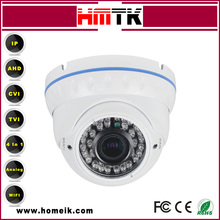 2.8-12mm Manual Zoom Lens 720P 1MP Mental Wifi Dome IP Camera