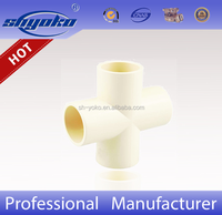 Manufacturer Good quality CPVC D2846 CROSS TEE CPVC PIPE FITTINGS PLASTIC PIPE FITTINGS