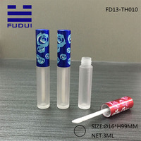 2016 Year Hot New Design Plastic Tube Cosmetic Packaging Lip Gloss Tube with Dull Polish Bottle