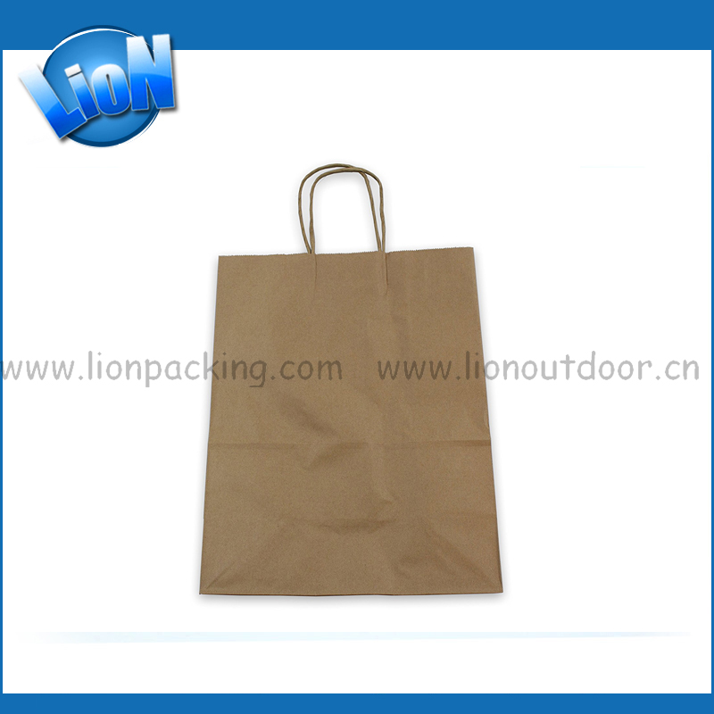 Wedding handle bag gift tote bad flat handle kraft paper bag