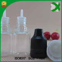 5ml 10 ml 15 ml 20 ml 30ml PET e juice/e liquid/e cig plastic bottle with tamper evident cap with triangle braille