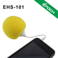 2012 arrival colorful rubber amplifier silicone horn speaker for iphone with 3.5 mm AUX cable