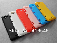 Soft Glossy TPU Case for Sony Xperia L S36h C2105 Back Phone Cover