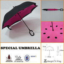 top quality water cup stick popular reverse umbrellas with laser hole inside