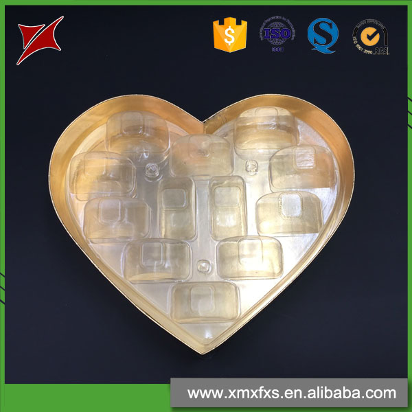 Heart shape custom macarons food packaging box/blister tray