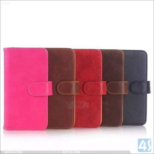 Flip Wallet Yak Skin Genuine Leather Case Cover For Samsung Galaxy S6