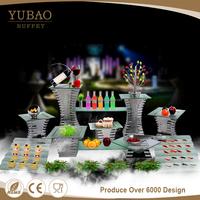 Beauty Yubao buffet equipment server dessert Display Plate Stand