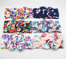 Audited Hair Accessories Factory Wholesale Girls Knotted Bow Children Kids Baby Headbands Bows 100% Cotton
