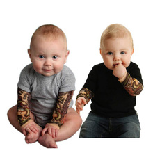 Fashionable Baby Tattoo Sleeve Clothing Rompers Wholesale
