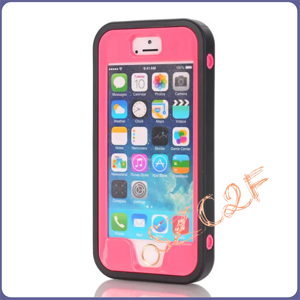 Hot Sell 3 in 1 Phone Case For iPhone 5 SE Robot Phone Case for iPhone