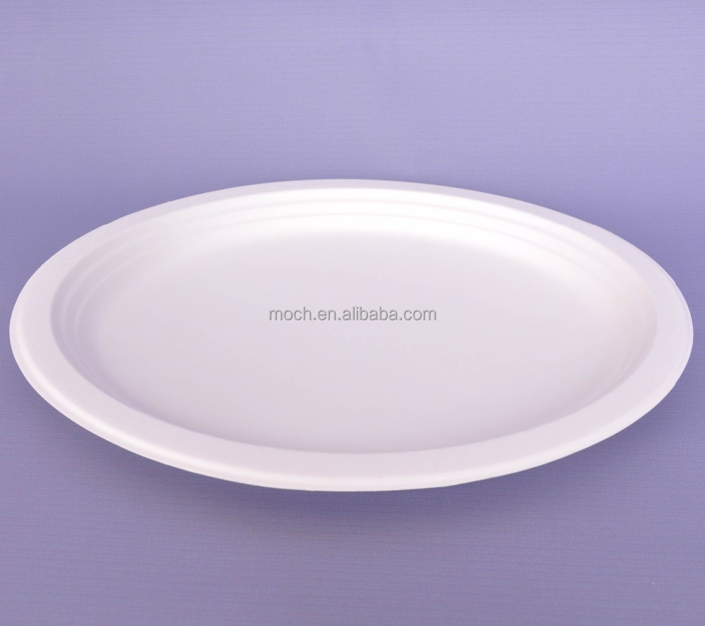 Hot sale 100% compostable bagasse disposable oval paper plate