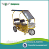 2 seater electric auto power battery tricycle with roof