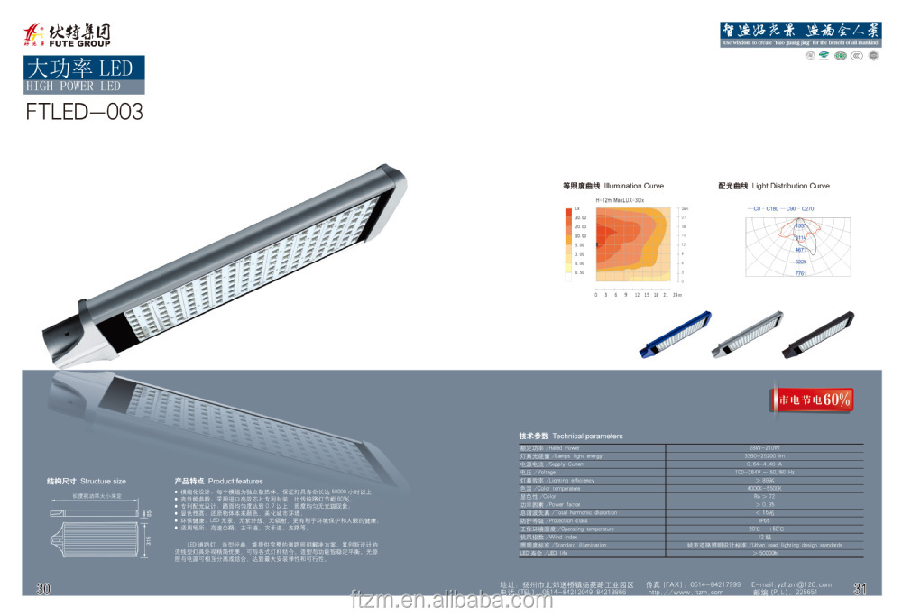 28-210W LED Street light led luminaire