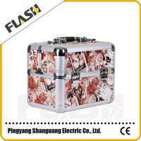 Flower Beauty Case Aluminium Custom Logo Brand Cosmetic Case