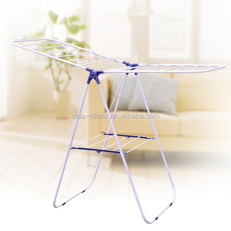 Free Standing Folding Clothes Drying Rack, Hanging Clothes Drying Rack