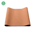 Natural cork high density eco friendly private label yoga mat with strap