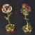 Wedding gift 24K Gold Plated Rose Flower Crystal diamond Decoration With Nice Box