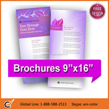 Glossy Finish Mini Tri-fold Brochure Printing