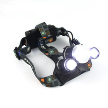 new design 3pcs XML T6 3000 lumen aluminum rechargeable 30W LED for walking camping hiking hunting zoomable headlamp