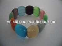 2012 Hot selling Silicone bead bracelet