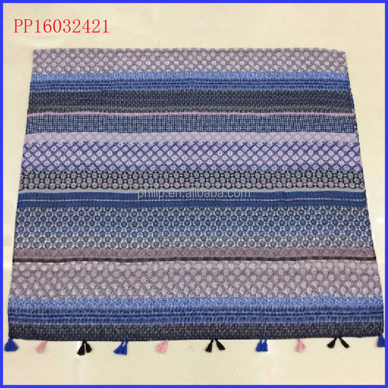 2016 stripe shawl wholesale from malaysia scarf with fringe