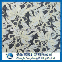 cotton/polyester mesh floral lace fabric