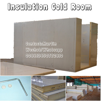 Insulation polyurethane cold stores panel with PPGI surface