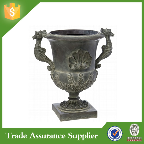 Chinese style ornamental fiberglass planter large garden flower pot