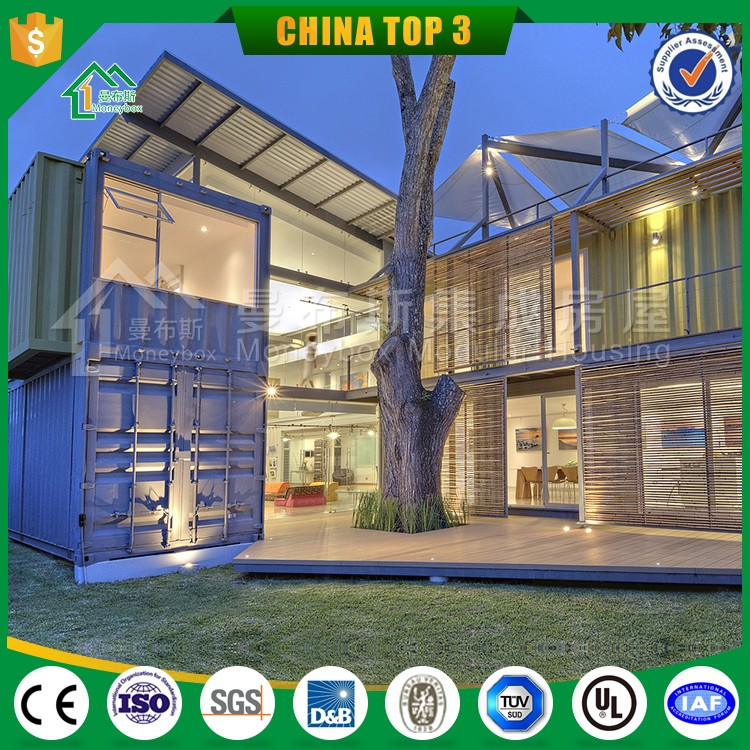 China 20ft luxury prefab shipping container homes for sale prices with low cost