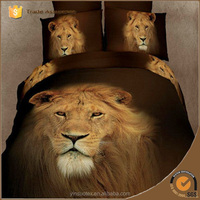 lion pattern animal print bedding 100% cotton bed comforter cover set 3D