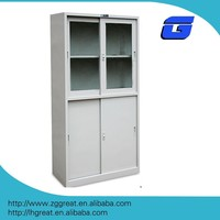 New style KD structure white grey 4 doors steel file cabinet