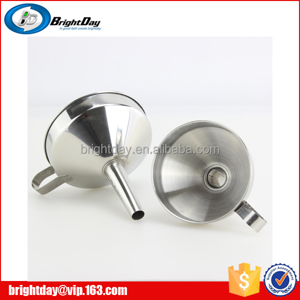 Kitchenware tool oil filling funnel stainless steel funnel