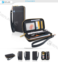 high quality pu leather zipper pouch case for iphone,wallet case for mobile phones,oem/odm are highly welcome